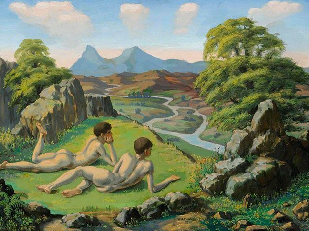 Ralph CHUBB. The enchanted valley [oil on canvas], 1925.