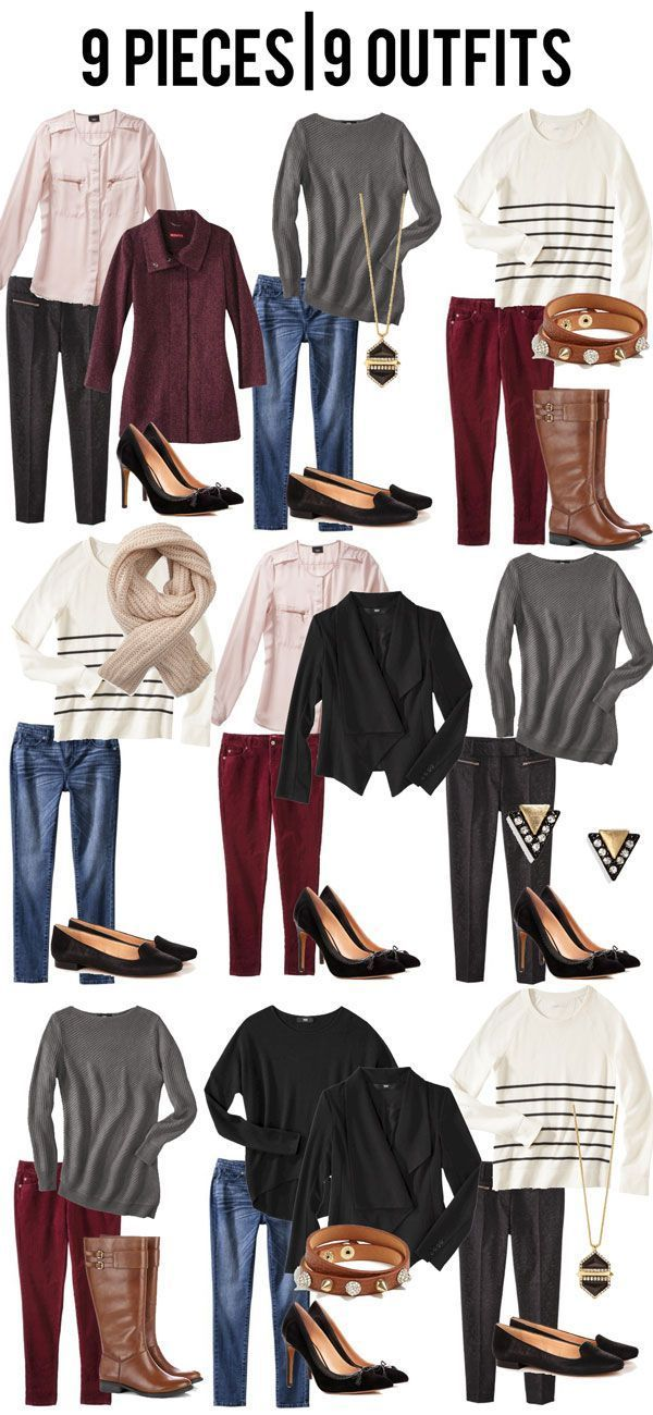 jillgg's good life (for less)   a style blog: 9 pieces   9 outfits!