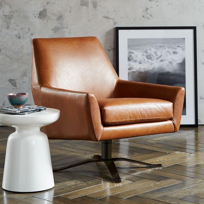 25 best ideas about Leather Swivel Chair on PinterestOrange