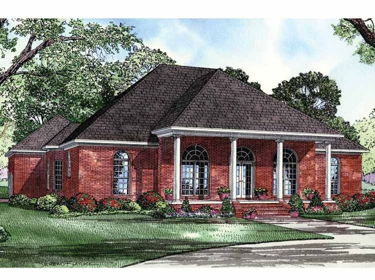 Colonial House Plan with 2553 Square Feet and 4 Bedrooms from Dream Home Source | House Plan Code DHSW57835
