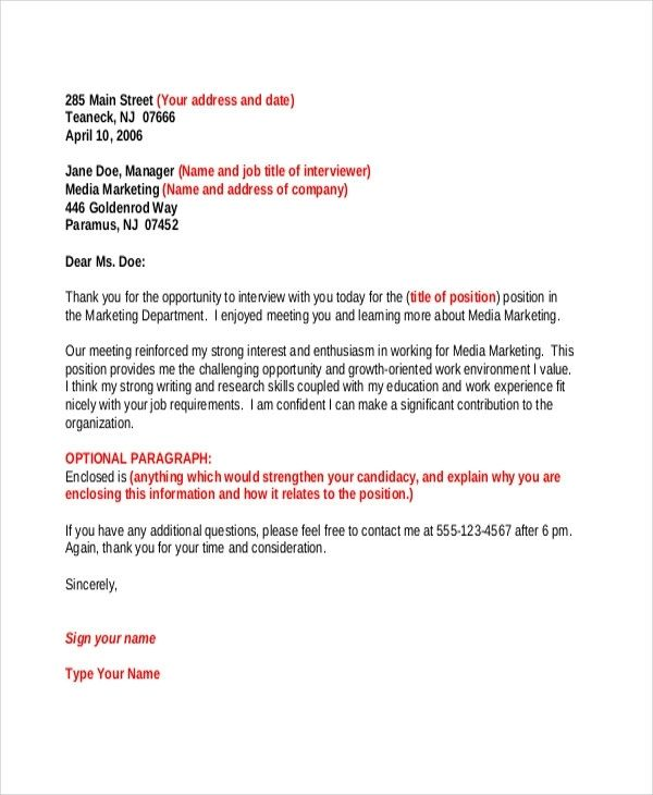 45 Thank You Letter Example Templates Free Amp Premium