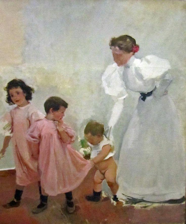 Joaquín Sorolla - Mi mujer y mis hijos