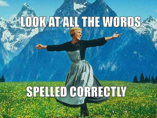 """I got: """"You are a walking spell checker! """" (23 out of 25! ) - Can You Spell The 25 Hardest Words In English?"""