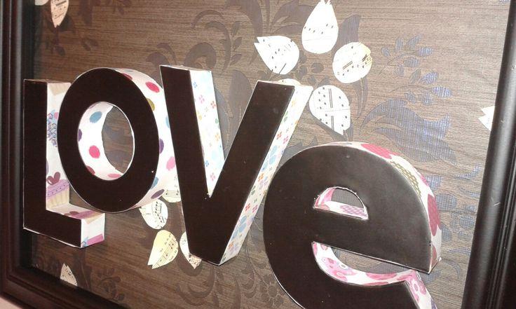 Love sisustustaulu itetehty