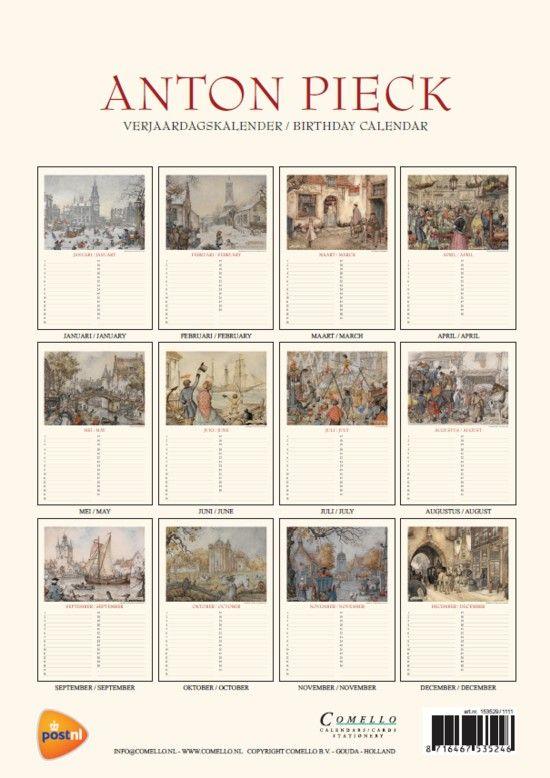 Anton Pieck - Verjaardagskalender alle maanden