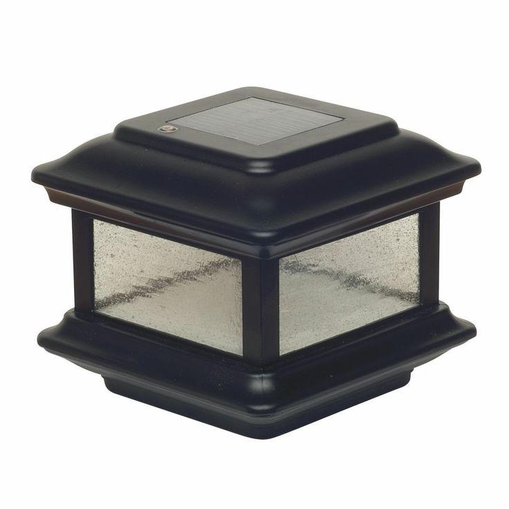 Solar Post Caps Black
