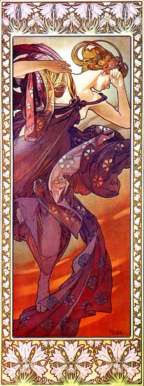 """Evening Star: 1902 by Alphonse Mucha from """"The Moon And The Stars"""" series"""