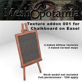 Meshopotamia Chalkboard on Easel Texture addon 001