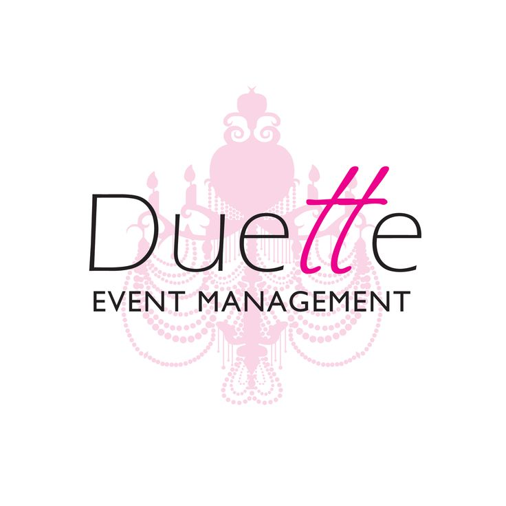 Logo for an events management company