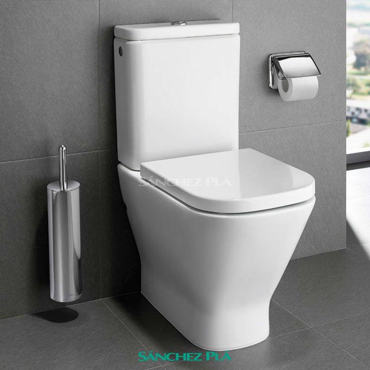 WC Inodoro compacto completo adosado a pared The Gap Compact,   Roca. Salida dual. doble descarga 4,5 / 3litros.Tapa normal o de caída amortiguada