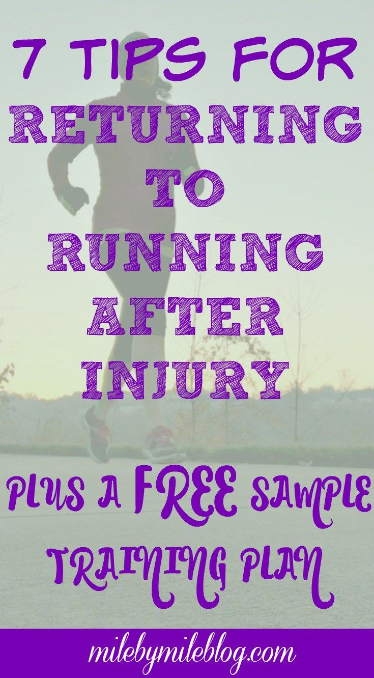 Returning to running after an injury can be challenging. Avoid any setbacks with these 7 tips plus a sample training plan
