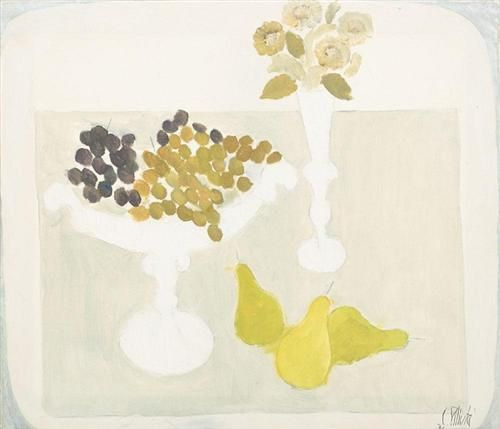 Pears and Grapes - Constantin Piliuta