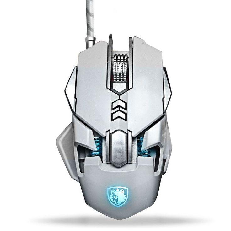 SAIDESI Ergonomic Wired Gaming Mouse Max 3200DPI White