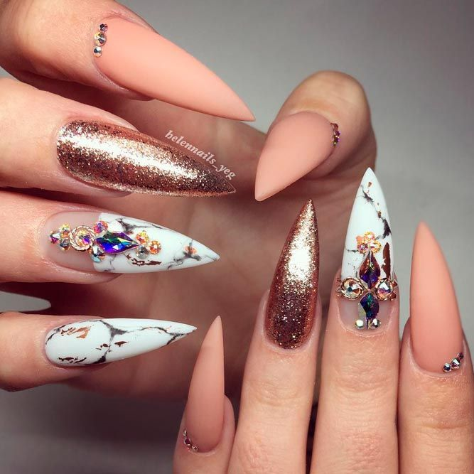 Marble Nail Art Stiletto: Best 25+ Stiletto Nail Designs Ideas On Pinterest
