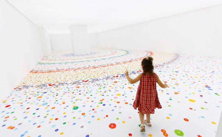 White Room Bursts to Life with Dreamy Flower Patterns by Shinji Ohmaki