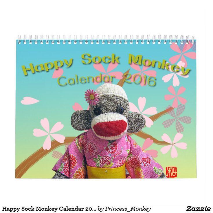 Happy Sock Monkey Calendar 2016