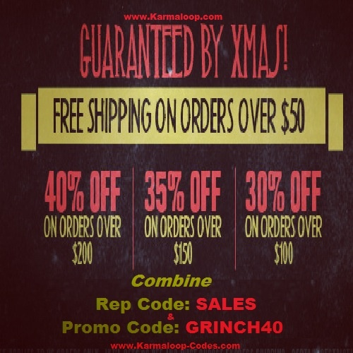 Karmaloop.com Guarantee by Xmas!  41% Off & Free Shipping: Spend at least $200 36% Off & Free Shipping: Spend at least $150 31% Off & Free Shipping: Spend at least $100 Free Shipping on orders $50 or more.  Combine RepCode: SALES + PromoCode: GRINCH40   Offer ENDS TONIGHT!  Don't Sleep! For more Karmaloop discount codes, visit http://www.Karmaloop-Codes.com #karmaloop #freeshipping #grinch40