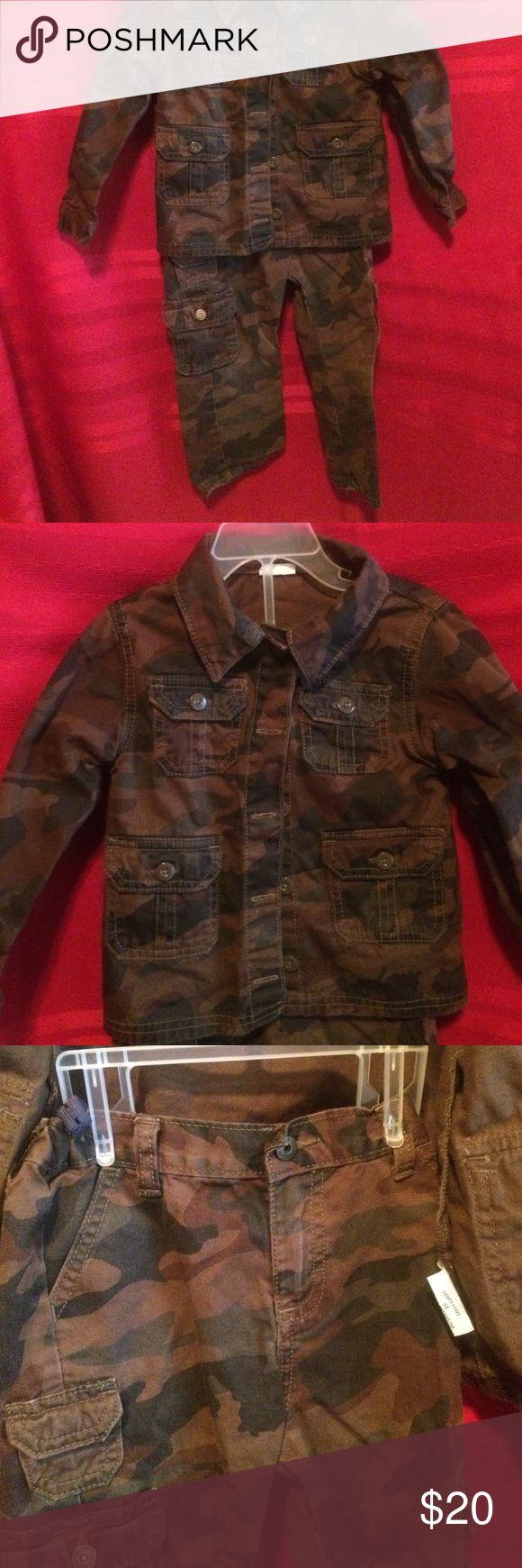 3T wrangler brand camo jacket and pants Like new Wrangler Jackets & Coats Jean Jackets