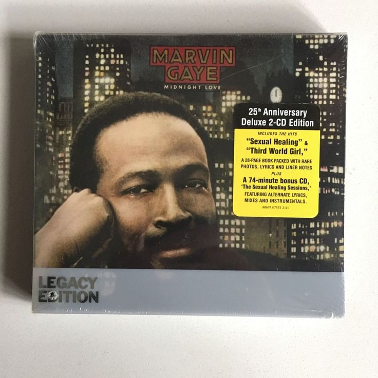 MARVIN GAYE Midnight Love/Sexual Healing Sessions 2xCD 2007 FACTORY SEALED NEW #SoulFunk