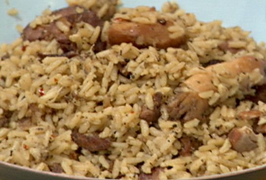 Authentic New Orleans Cajun Chicken and Sausage Jambalaya from Throwdown Foodnetwork