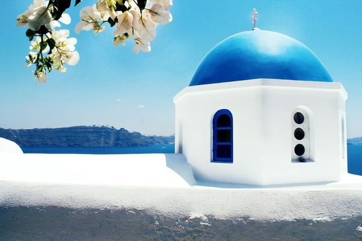 Oia, Santorini, Greece, blue dome, churce, caldera view, cycladic architecture, holiday deatinations, must see places