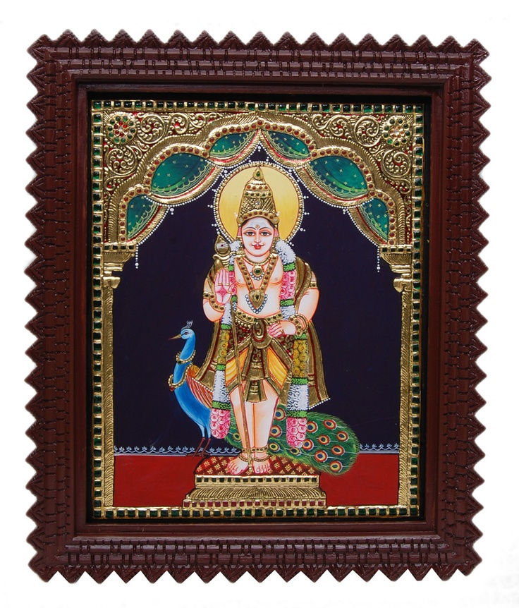 Tanjore Paintings - Murugan