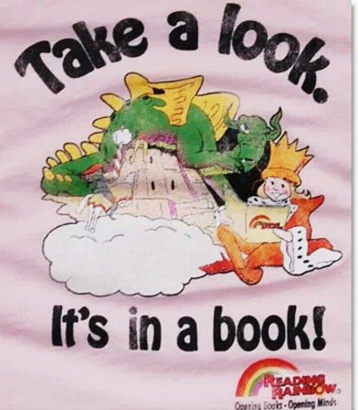 Reading Rainbow! oh my goodness! lol