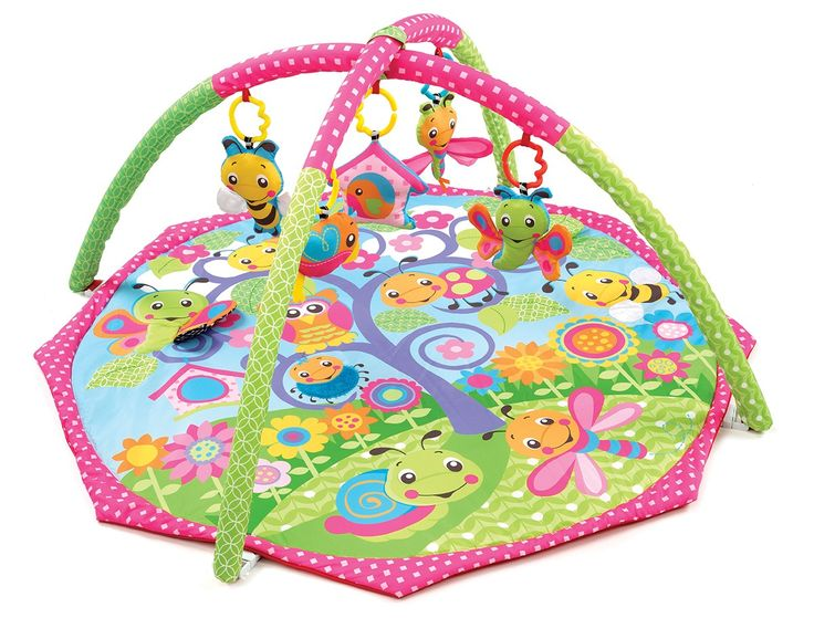 Bugs 'n' Bloom Activity Gym-This delightful garden inspired gym features very cute bugs and is the perfect place to stimulate baby's development and senses. The colourful hanging toys are great for playtime and offer unique features from a squeaker, rattle and crinkle sounds - great for stimulating auditory development
