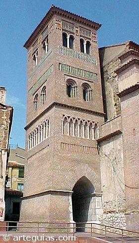Teruel torre mudéjar de la iglesia de San Pedro,