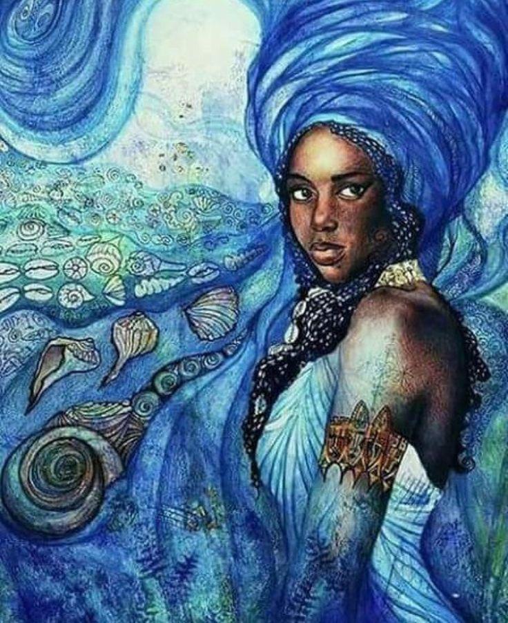 """7Trigo """"A força dela me guia, meu caminho é o mar e que me lancem pedras, que Iemanjá faz areia para eu não me machucar."""" Saravá Iemanjá Odoya!"""