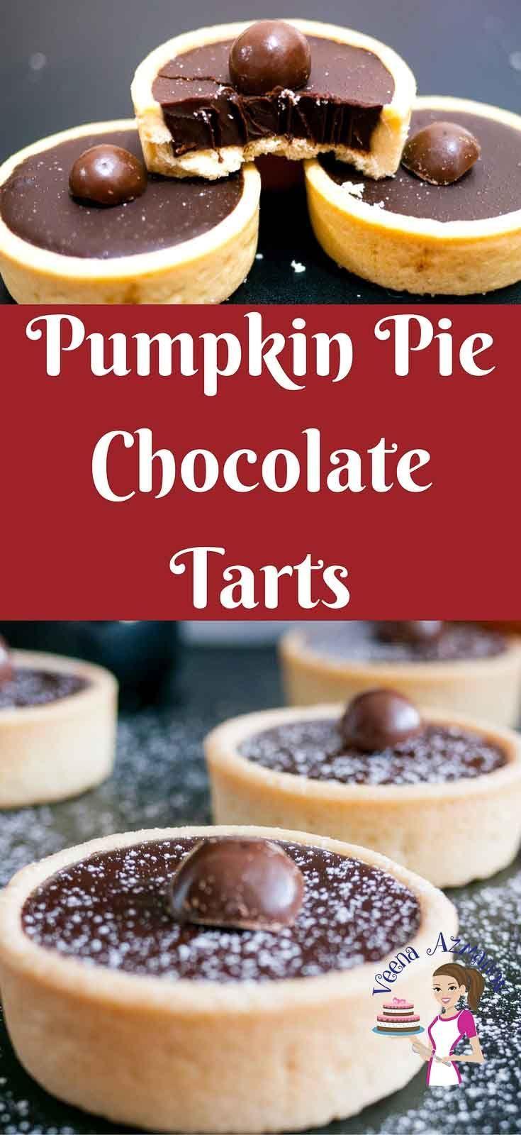 Pumpkin Pie Chocolate Tarts Recipe - Perfect Thanksgiving Dessert