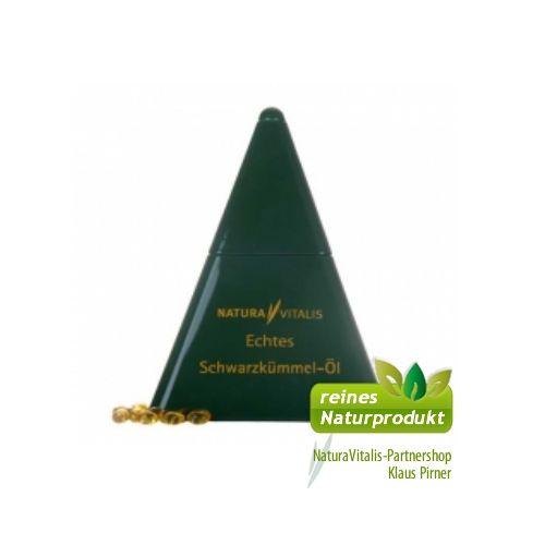 Natura Vitalis Pyramide Schwarzkümmelöl 1250 Kapseln