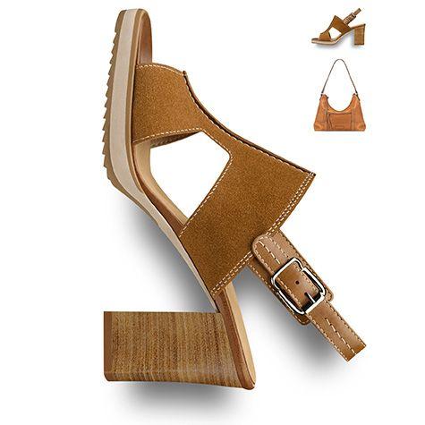 #Blockheel, #brown #shoe, #summer, #seventies, #70s #trend, #sandal #tamaris