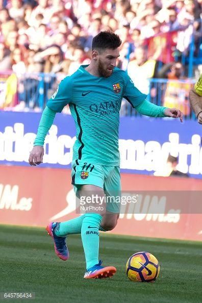 Fotografía de noticias : Lionel Messi of FC Barcelona during of the La...