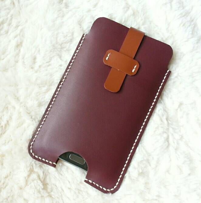 Handmade Leather Samsung Note 4 Case / Leather Phone Case / Samsung Note 3 Case / Note 2 Case / Cell Phone Case - Brown Genuine Cow leather