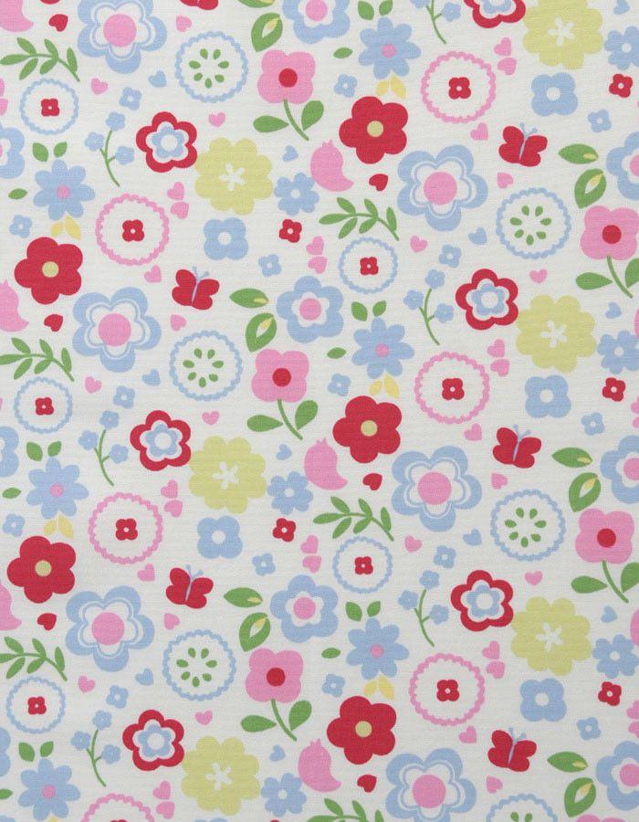 z. SAMPLE Cotton Fabric Retro Floral Chintz