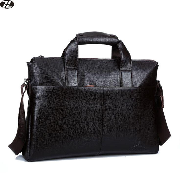 Mannen lederen aktetas lederen handtassen tote business mannen messenger tassen merk mannen schouder Laptop crossbody tassen zwart