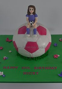Girls soccer ball cake