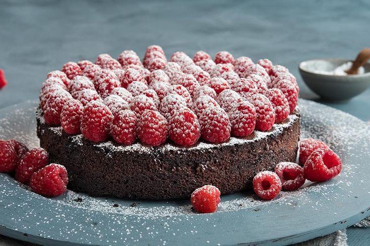 Oppskrift på sjokoladekake uten gluten og melk.