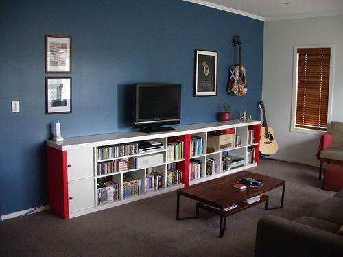 Meuble Tv Ikea Kallax : Ikea Expedit Tv Storage Unit Whitetvpinterestikea Expedit