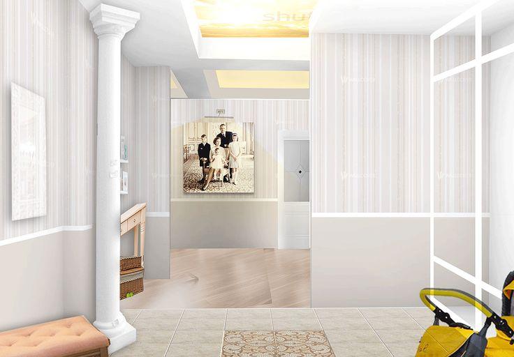 Дизайн квартиры в Бишкеке 75 кв. м., Холл