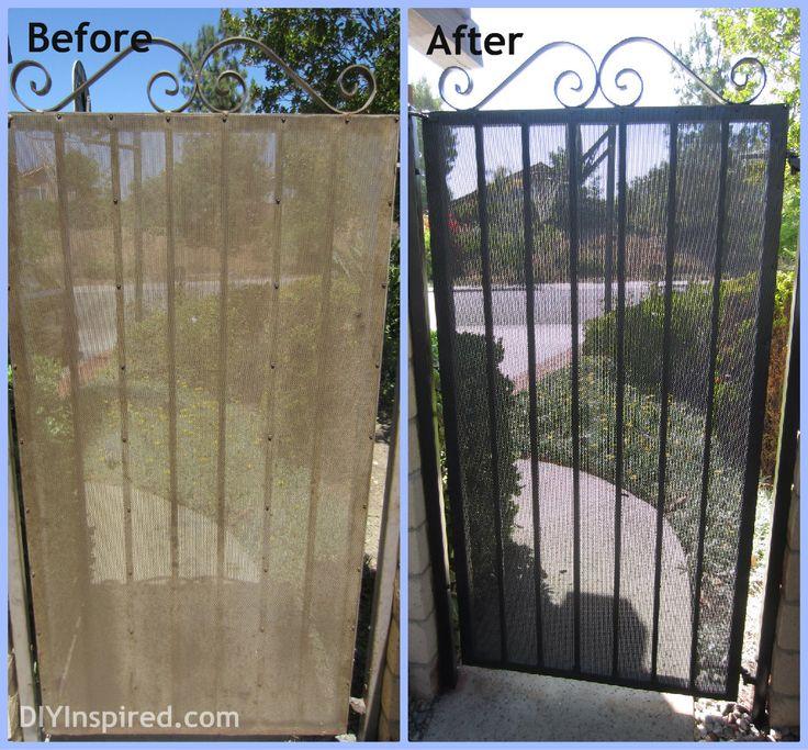 How to paint a metal screen door.
