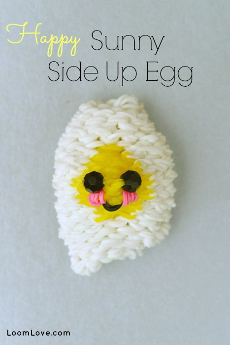How to Make a Rainbow Loom Happy Sunny Side Up Egg