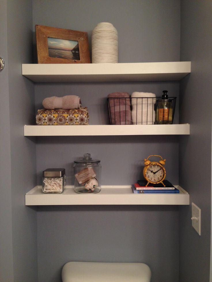 Shelves above toilet.   – Master bath remodel – #bath #MASTER #remodel #Shelves …  – most beautiful shelves