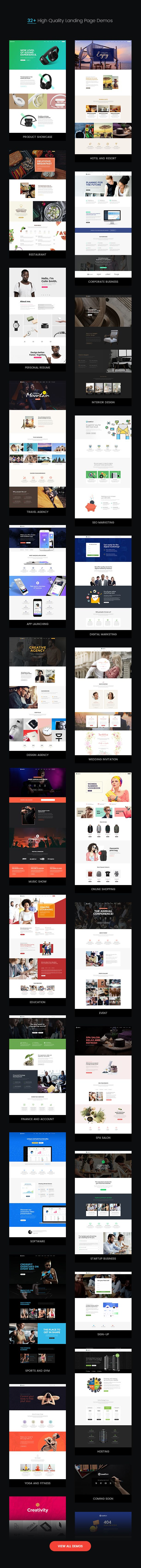 LeadGen is a conversion ratio and speed optimized multi-purpose marketing landing page template with drag & drop page builder and tons of readymade elements and demos with greater level of customiz...