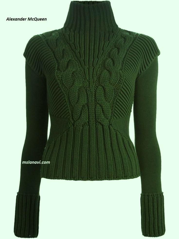 Вязаный свитер спицами от ALEXANDER MCQUEEN http://mslanavi.com/2016/02/vyazanyj-sviter-spicami-ot-alexander-mcqueen/