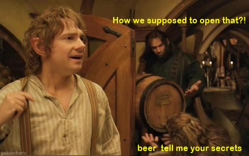 Kili and Fili. I totally did not hear this the first time in theaters. The second time I couldn't stop laughing.