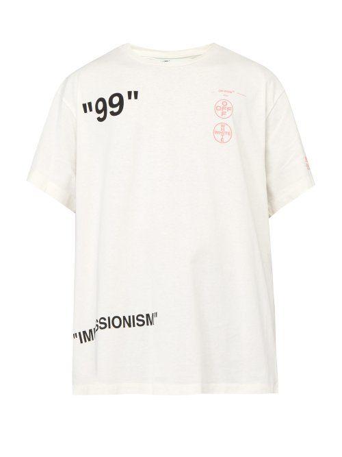 be5c36da9ad31b OFF-WHITE OFF-WHITE - IMPRESSIONISM PRINT T SHIRT - MENS - WHITE. #off-white  #cloth
