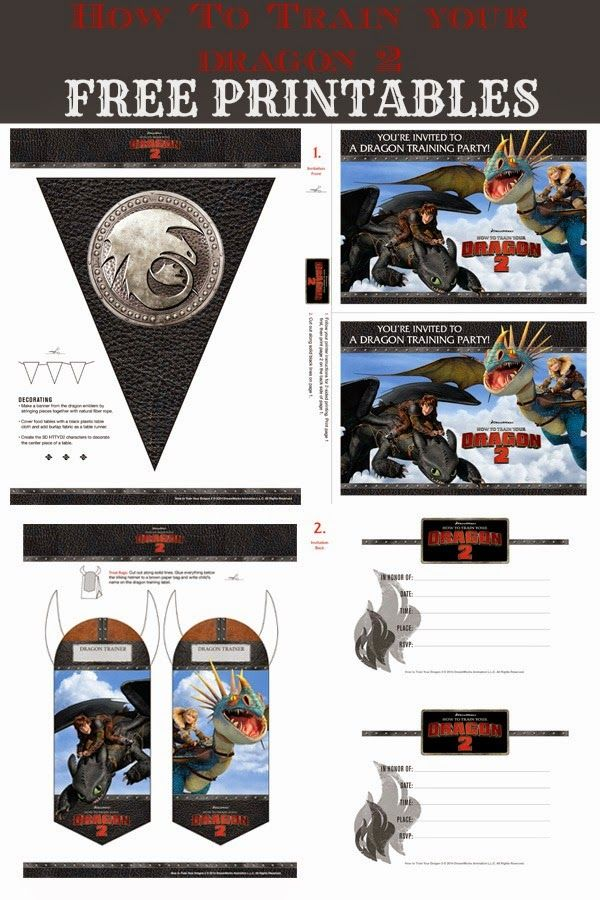 FREE printables for a How to Train Your Dragon party!