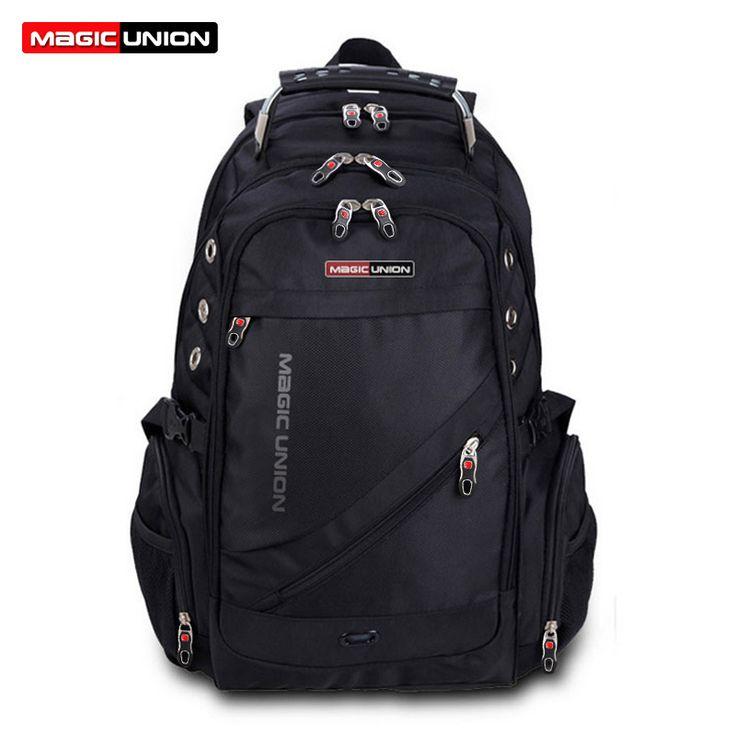 MAGIC UNION Brand Design Men's Travel Bag Man Backpack Polyester Bags Waterproof Shoulder Bags Computer Packsack Wholesale ** Click the image for detailed description